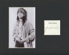 Patti Smith Because the Night Singer Songwriter Signed Autograph Photo Display