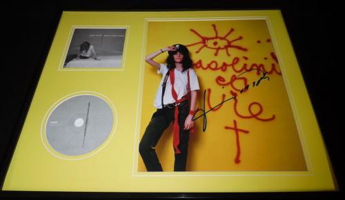Patti Smith Signed Framed 16x20 Peace & Noise CD & Photo Display JSA