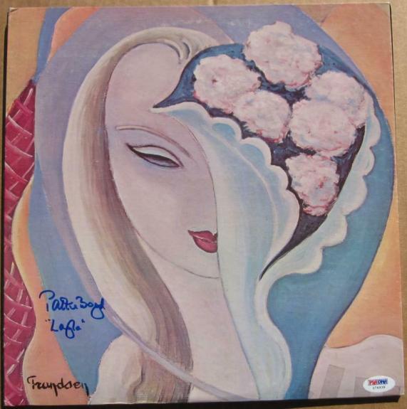 Pattie Boyd signed LP Eric Clapton Layla Album Cover PSA/DNA auto