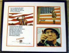 Patton autographed by George C. Scott and Karl Malden (deluxe framed Karl Malden photo signed TO JIM)