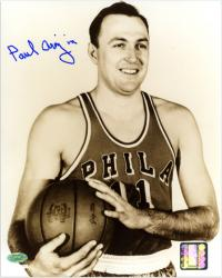 "Paul Arizin Philadelphia 76ers Autographed 8"" x 10"" Smiling Photograph - Mounted Memories"
