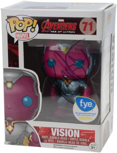 Paul Bettany Avengers Age of Ultron Autographed #71 Vision Funko Pop! - JSA