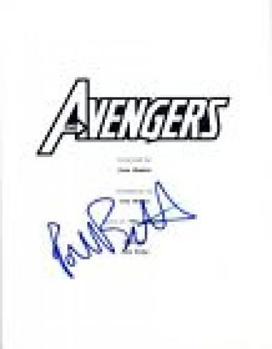 Paul Bettany Signed Autographed AVENGERS Full Movie Script COA VD
