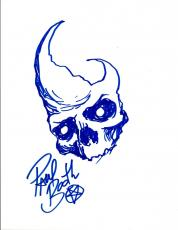 Paul Booth Signed Autograph Hand Drawn Sketch Tattoo Artist COA VD