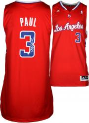 Chris Paul Los Angeles Clippers Autographed Adidas Swingman Red Jersey - Mounted Memories