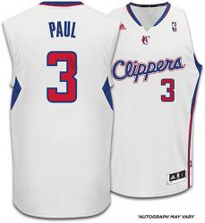 Chris Paul Los Angeles Clippers Autographed Adidas Swingman White Jersey - Mounted Memories