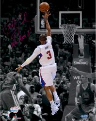 Chris Paul Los Angeles Clippers Autographed 11'' x 14'' Spotlight Photograph with We Are One Inscription-#1 of a Limited Edition of 24 - Mounted Memories