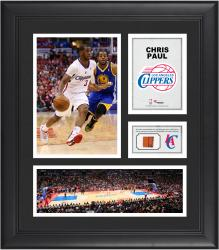 """Chris Paul Los Angeles Clippers Framed 15"""" x 17"""" Collage with Team-Used Ball"""