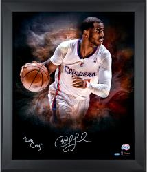Chris Paul Los Angeles Clippers Framed Autographed 20'' x 24'' In Focus Photograph with Lob City Inscription-#24 of a Limited Edition of 24 - Mounted Memories