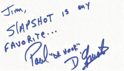 Paul D'Amato Signed 3x5 Index Card Slap Shot Dr Hook
