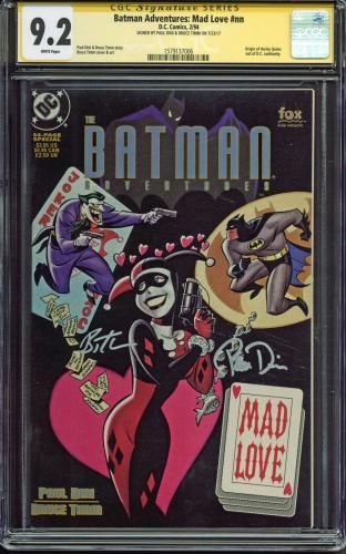 Paul Dini & Bruce Timm Signed Batman Adventures: Mad Love #nn CGC Graded 9.2!
