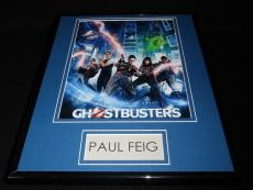 Paul Feig Signed Framed 11x14 Photo Display AW Ghosbusters