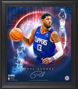 "Paul George LA Clippers Framed 15"" x 17"" Stars of the Game Collage - Facsimile Signature"
