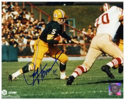 Paul Hornung Green Bay Packers Autographed 8'' x 10'' Horizontal Action Photograph - Mounted Memories
