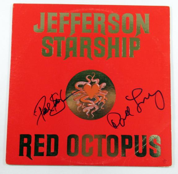 Paul Kantner David Freiberg Signed Album Jefferson Starship Red Octopus 2 AUTOS