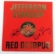 Paul Kantner David Freiberg Signed Album Jefferson Starship Red Octopus 2 AUTOS