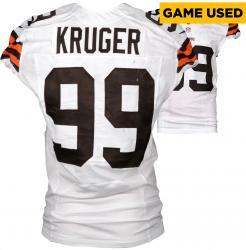 Paul Kruger Cleveland Browns White Game-Used Jersey November 23, 2014 vs. Atlanta Falcons