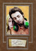 Paul & Linda McCartney Signed & Matted 2.5x6 Cut Signature Display PSA #D54161