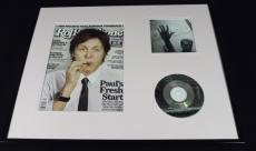 Paul McCartney 16x20 Framed 2012 Rolling Stone Magazine & Driving Rain CD Set