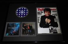 Paul McCartney 16x20 Framed 2013 Rolling Stone Magazine & Back in US CD Display