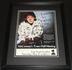 Paul McCartney 1997 VH1 Town Hall Meeting 11x14 Framed ORIGINAL Advertisement