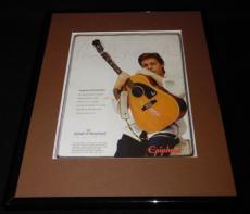 Paul McCartney 2007 Epiphone Framed 11x14 ORIGINAL Vintage Advertisement