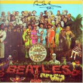 """Paul McCartney """"2011"""" Signed Sgt. Peppers Album Cover W/ Vinyl JSA & Caiazzo LOA"""