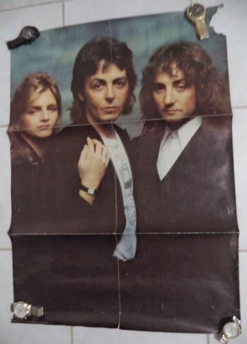 Paul Mccartney And Wings Club Sandwich 1977 23x33 Original Poster Rare