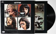 Paul Mccartney Authentic Signed Let It Be Vinyl Psa/dna Loa W00494