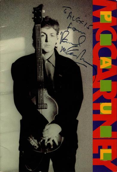 Paul McCartney Autographed Signed 1989 1990 Tour Book Cover RACC TS UACC RD AFTA