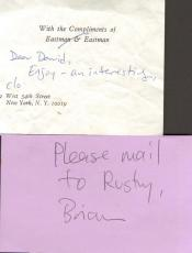 Paul McCartney The Beatles Personal Hand Written Notes X2 AFTAL