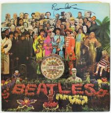 Paul Mccartney Beatles Sgt. Peppers Signed Album Cover W/ Vinyl PSA/DNA #Q02360