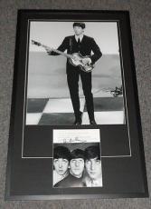 Paul McCartney Beatles Signed Framed 25x40 Photo Poster Display JSA Full LOA