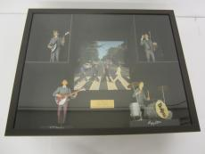Paul McCartney Beatles signed framed record album w/action figures PSA DNA COA