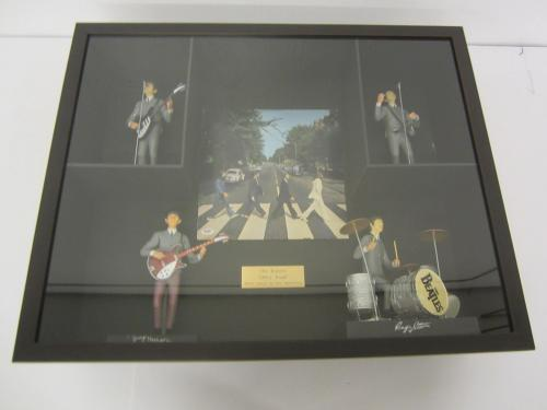 Paul McCartney Beatles signed framed record album w/action figures PSA DNA COA