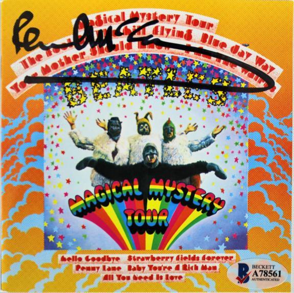 Paul McCartney Beatles Signed Magical Mystery Tour Cd Insert W/ Disk BAS #A78561