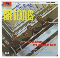 Paul McCartney Beatles Signed Please Please Me Album Cover W/ Vinyl PSA #Q02565