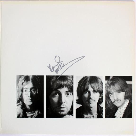 Paul McCartney Beatles Signed White Album w/ White Vinyl BAS & Caiazzo