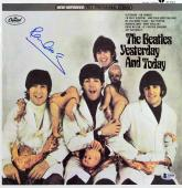 Paul McCartney Beatles Signed Yesterday & Today Album Cover W/ Vinyl BAS #A10240