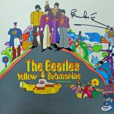 Paul Mccartney Beatles Yellow Submarine Signed Album Cover W/ Vinyl Psa #u03957
