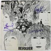 Paul Mccartney George Harrison & Ringo Starr Signed Beatles Album PSA #Q04997