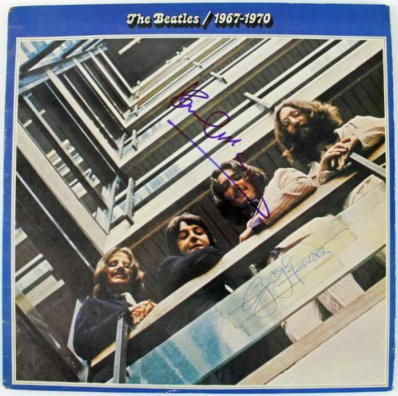 Paul Mccartney & George Harrison Signed Album Cover W/ Vinyl PSA/DNA #Q04998