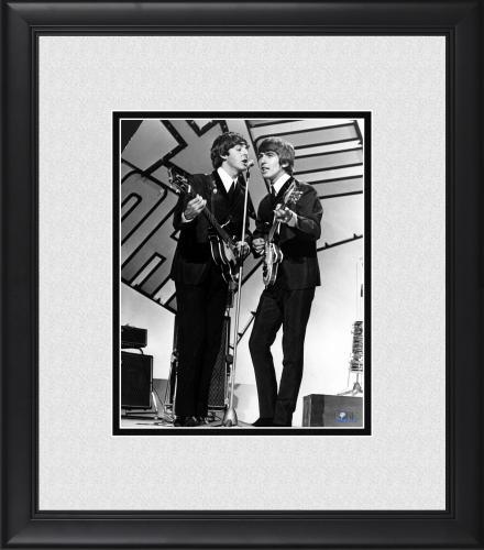 "Paul McCartney & George Harrison The Beatles Framed 8"" x 10"" Photograph"