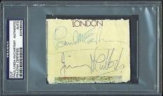 Paul McCartney & Jimmy McCulloch Signed Autographed 2x3 PSA/DNA