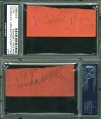 Paul McCartney & Linda McCartney The Beatles Signed 1.5x3.75 Cut PSA/DNA Slabbed