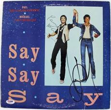 Paul Mccartney & Michael Jackson Signed Album Cover W/ Vinyl PSA/DNA #Q02557
