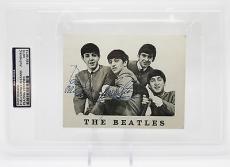 Paul Mccartney & Ringo Starr Signed Beatles Promo Photo Psa/dna Encap 83519713