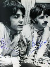 Paul McCartney Ringo Starr Signed Rare 16X20 Beatles Photo PSA #S14597