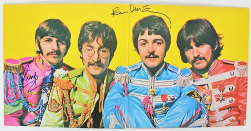 "Paul McCartney & Ringo Starr Signed Sgt Pepper""s Album Cover w Vinyl BAS #A70462"