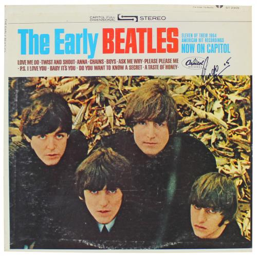 Paul McCartney & Ringo Starr Signed The Early Beatles Album Cover BAS #A70569